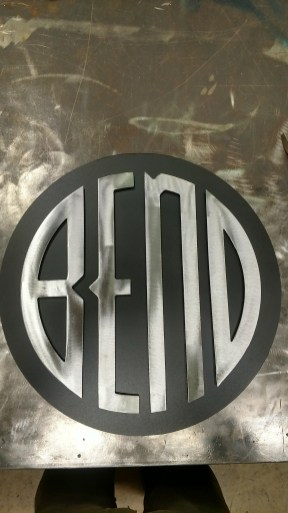 multi layered bend custom sign