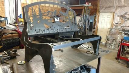 steel bench customer built