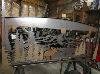wild life banister painted 3