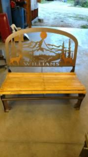 williams steel wildlife bench 2