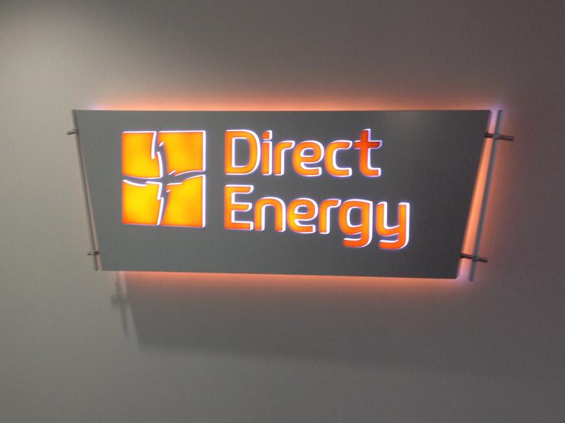 Internally Illuminated Lobby Sign Austin Sign Company