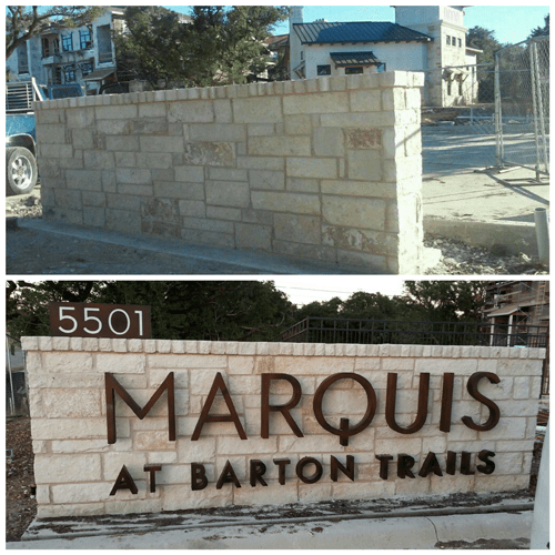 Monument Sign | Marquis Apartments | Austin Sign Company