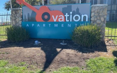 Ovation Apartments Sign Project