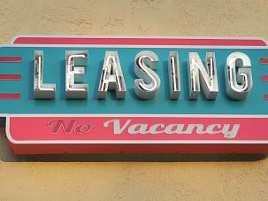Leasing sign