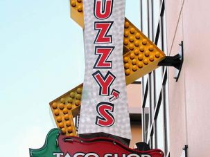 Fuzzy's Taco Shop Sign