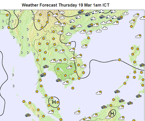 Weekly Weather: Temperatures Rising. Rain ⋆ Cambodia News English