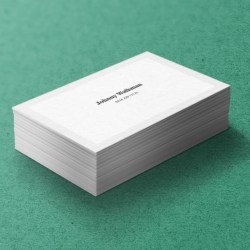 Simple White Business Cards