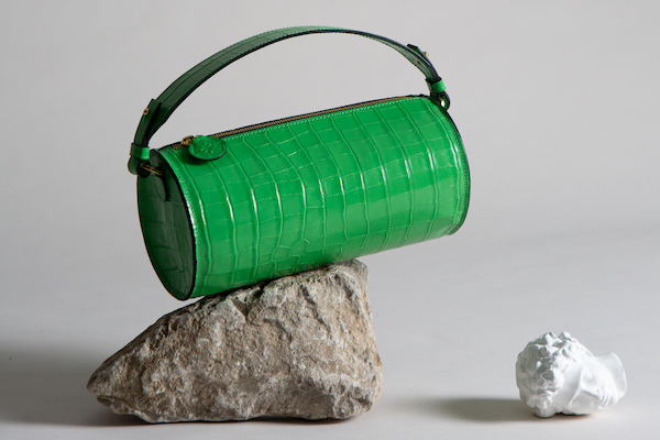 C.Nicol Evie barrel bag apple green