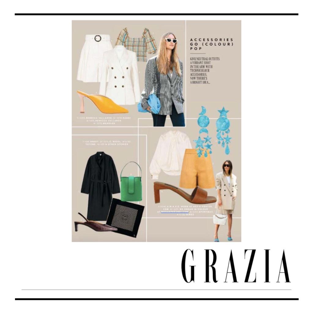 C.Nicol bags Grazia Magazine
