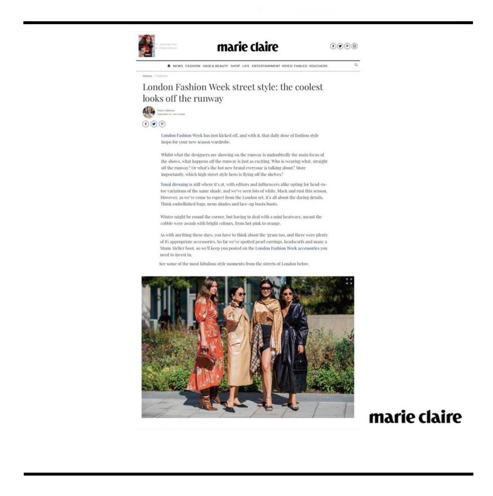 C.Nicol bags Marie Claire magazine fashion