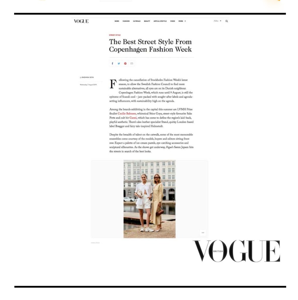 C.Nicol bags British Vogue magazine