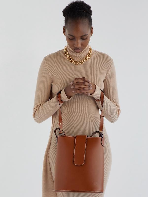 C.Nicol Holly bucket bag tan leather