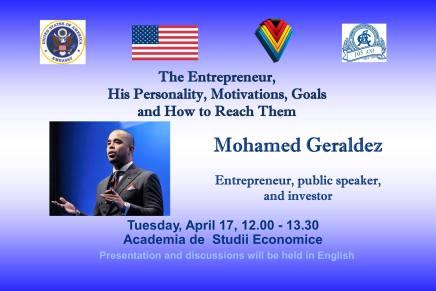 Antreprenorul de succes, Mohamed Geraldez, vine in Romania!