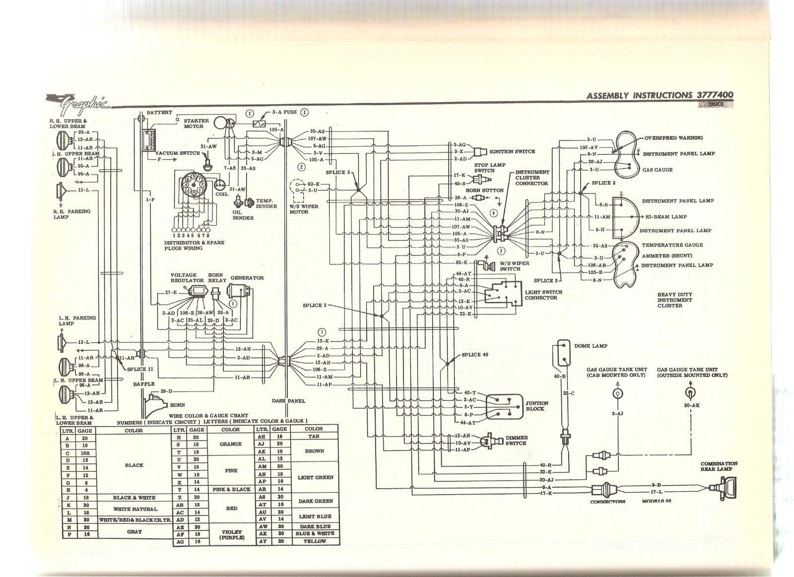 wiring diagram for 1961 chevy c10 apache 1958 chevy apache 1966 GMC Truck Wiring Diagrams 1966 GMC Truck Wiring Diagrams