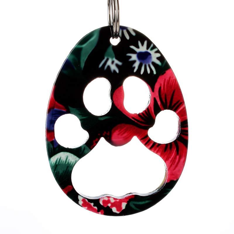 Promotional small animal paw shaped bottle opener key ring