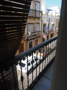 One balcony was open