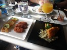 I had some great tapas: croquetas which are like creamy hushpuppies and a fish filet