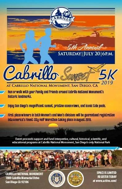 Cabrillo Sunset 5K Fun Run/Walk - Cabrillo National Monument