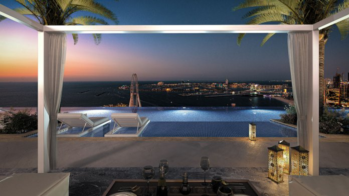 The opening of the highest infinity pool in the world in Dubai .. how high is it?