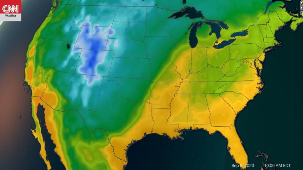 Temperaturas frías récord y una rara nieve en septiembre llegan esta semana a Estados Unidos