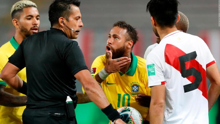 The VAR talk that resulted in a penalty for Brazil against Peru