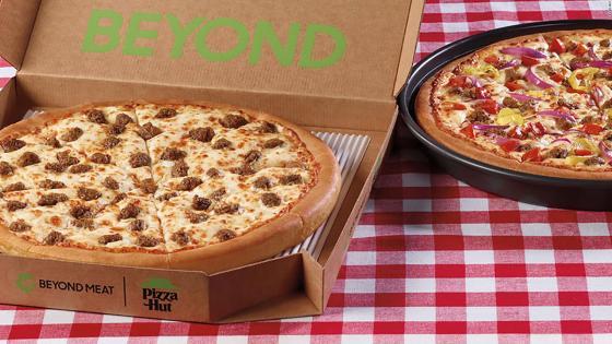 Pizza Hut agrega de plantas de Beyond Meat and a menu