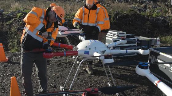 Usan drones for reforestation Bosques Arrasados by El Fuego
