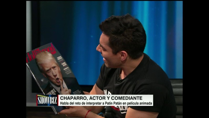 Omar Chaparro rompe revista con cara de Trump