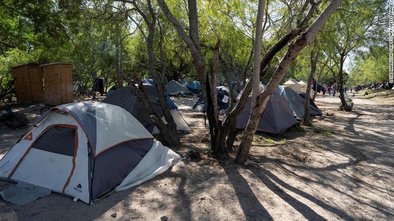 campamento de migrantes Matamoros
