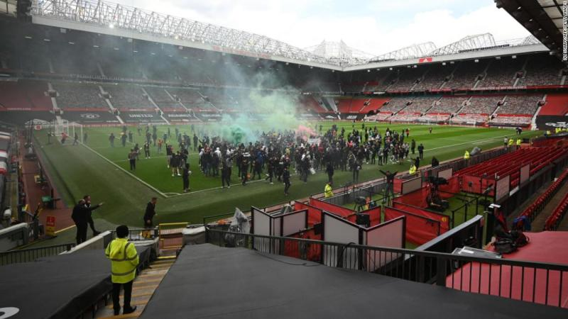 Protesta del Manchester United en Old Trafford