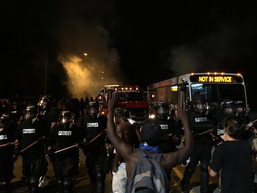Image result for One person killed during violent Charlotte protest; officer hurt