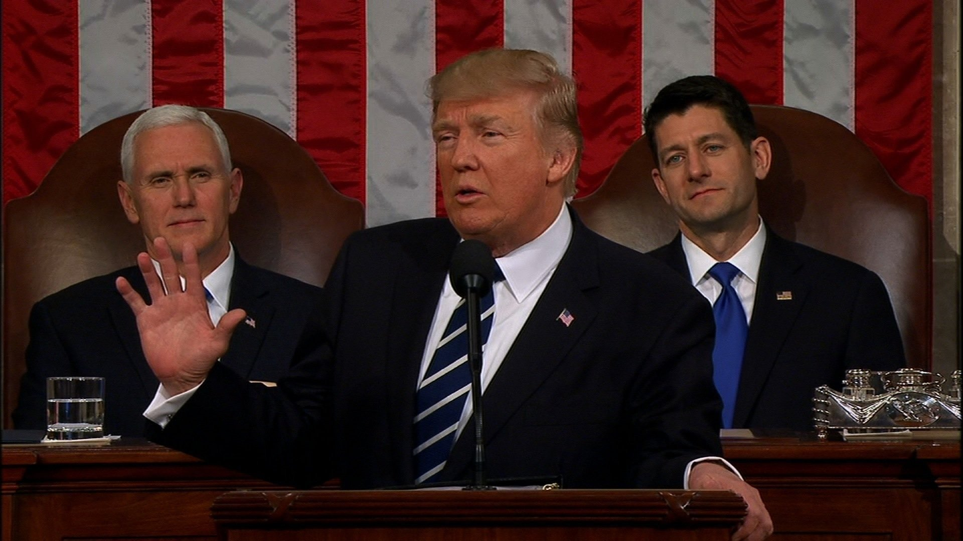 Image result for images of Donald Trump in front of Congress on Feb. 28, 2017
