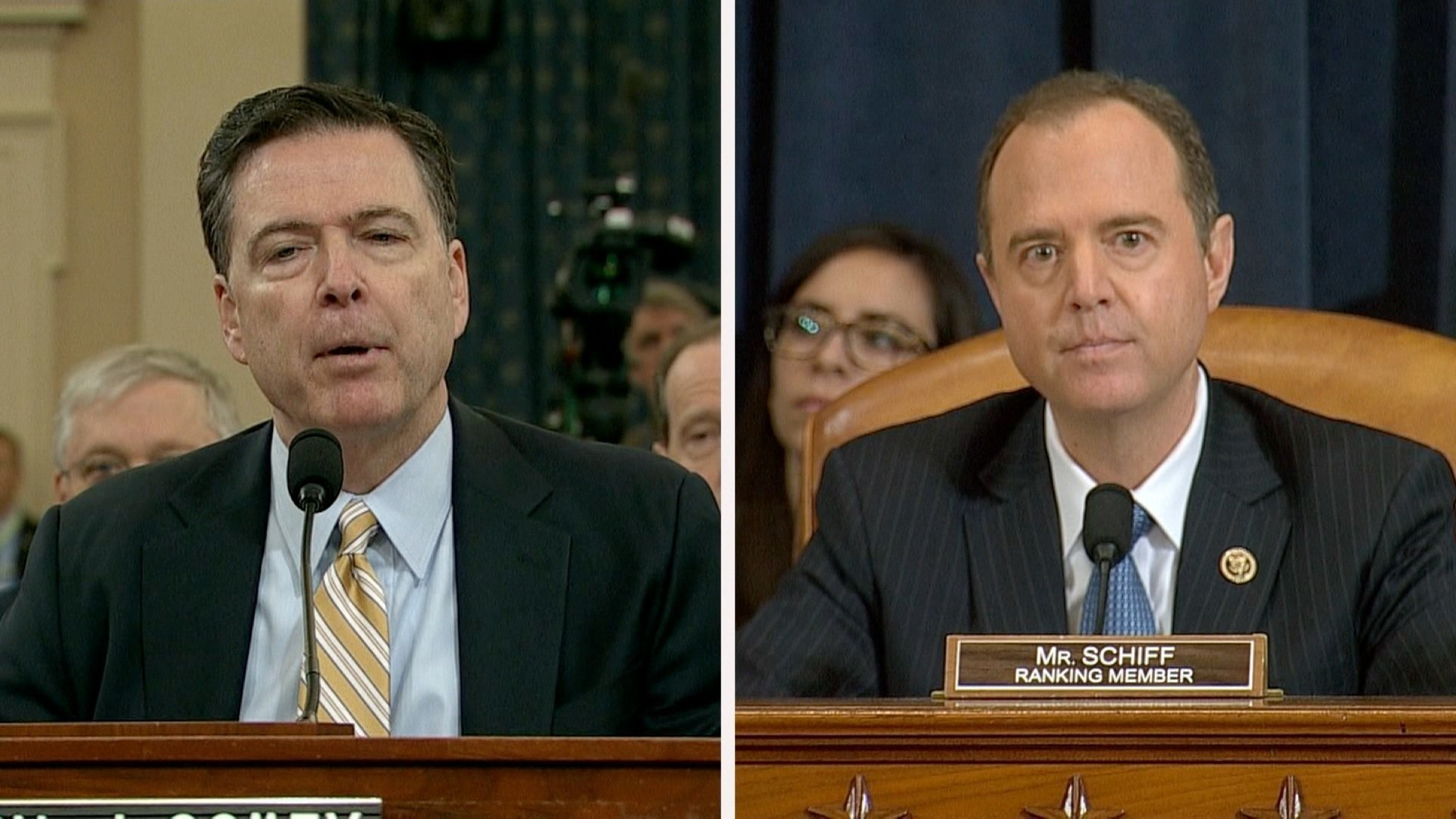 Image result for photos of adam schiff at hearing