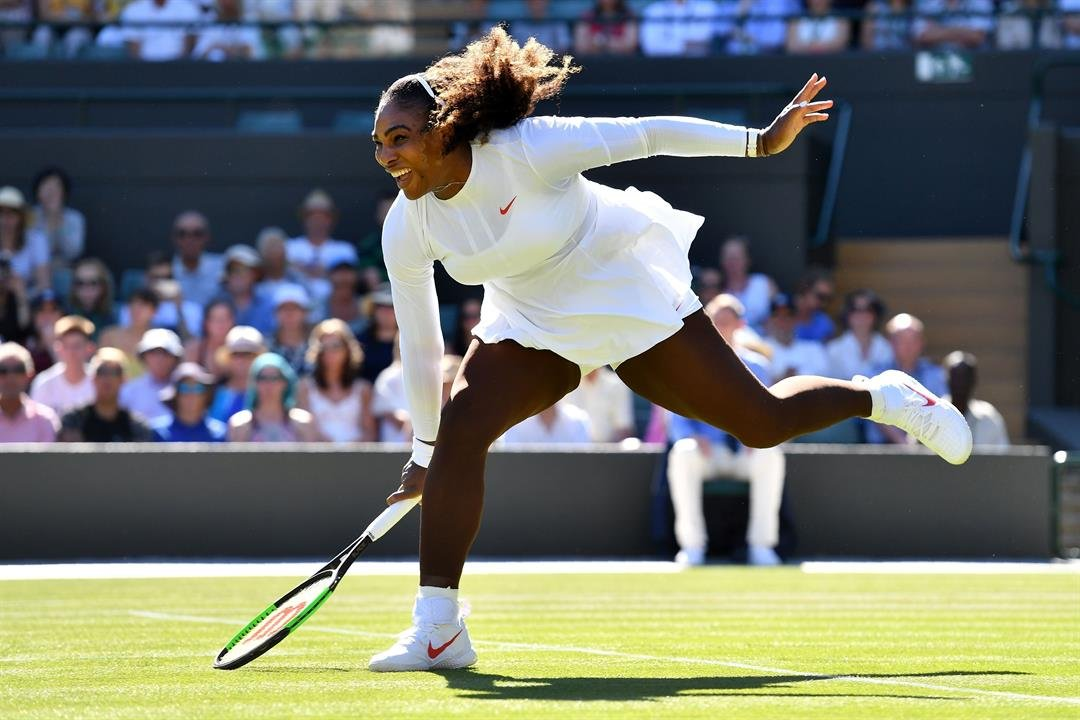 Image result for Serena wins first Wimbledon match as mom