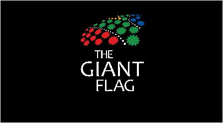 The Giant Flag logo - white on black