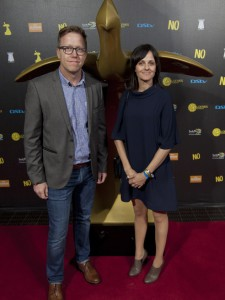 Executive Creative Director Adam Weber and Creative Director Roanna Williams at the 2015 Loerie Awards - Bizcommunity Picture