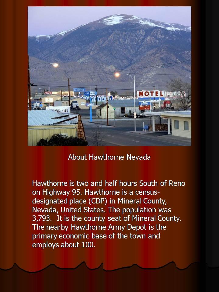 Reno Investment Properties in Hawthorne Nevada