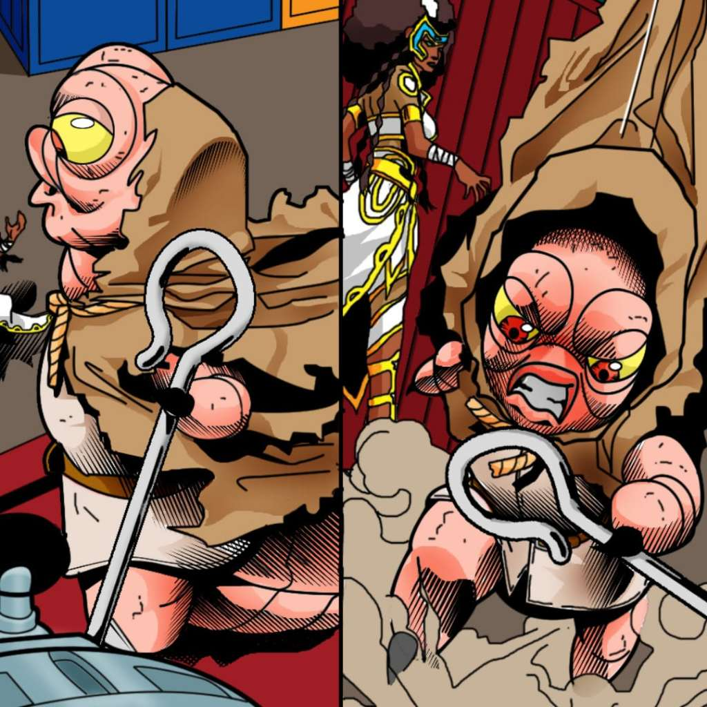 The Hoarder in action from TOS Issue #2.