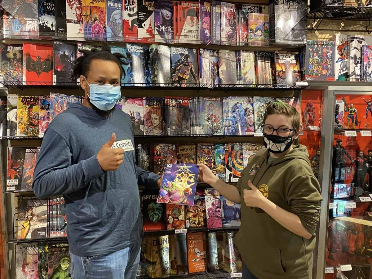 Comic book drop off at Memory Lane Comics in Wilmington, NC.