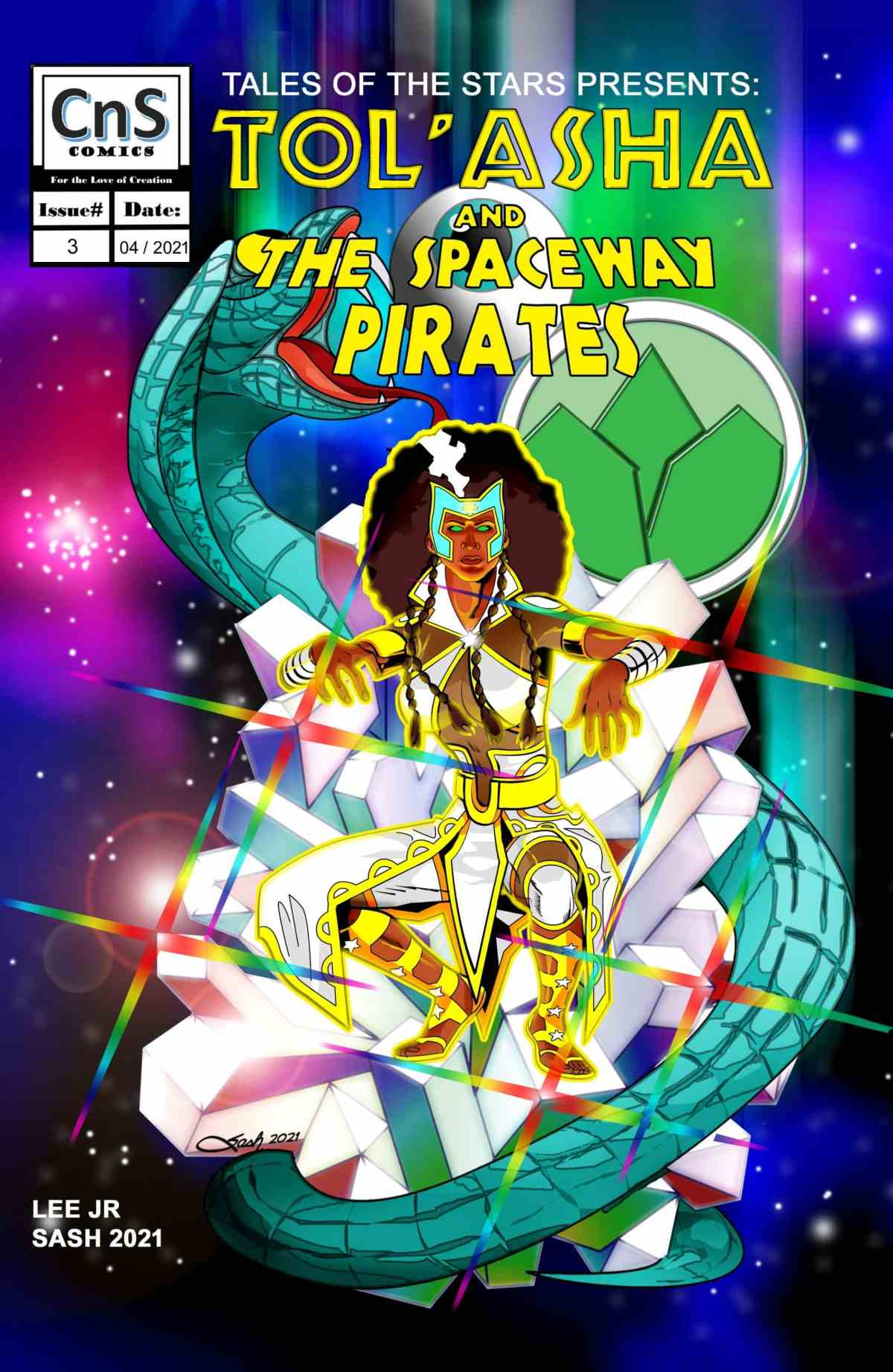 """Classic cover for TOS Issue 3. Art by Steven """"Sash"""" Scott."""