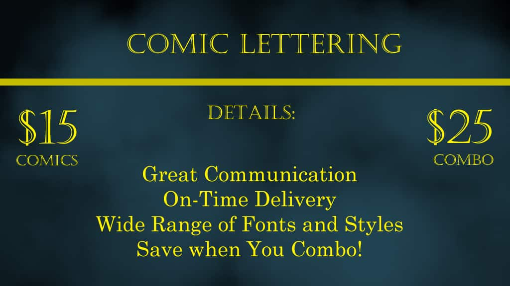 Comic Lettering services banner