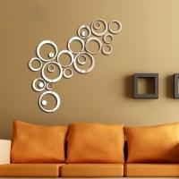 Hot DIY Acrylic Mirror Wall Stickers Very Nice Office ...