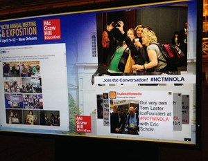 CustomNEWS will provide photos to add to your conference's social media screens.