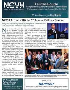 The NCVH Fellows Newsletter is a great marketing tool for future Fellows courses.