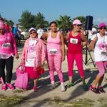 Hundreds go pink to support breast cancer run/walk