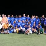 Football 'old-timers' put on cleats for charity
