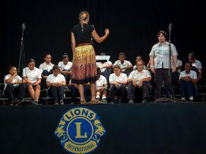 "John Gray High School Secondary Choir performing ""Radioactive"""