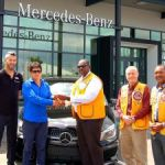 Lions Club raffle winner drives off with new car