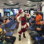 Travellers get holiday cheer at airport