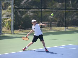 Jakub Neveril won the 14 and under final
